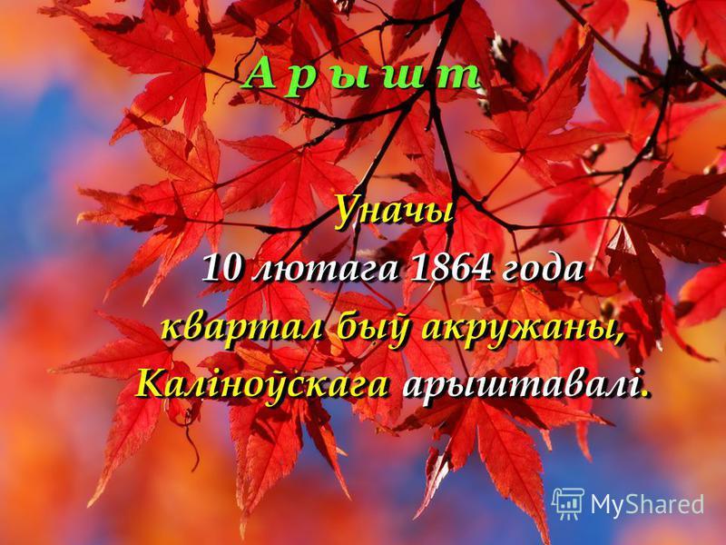 А р ы ш т Уначы 10 лютага 1864 года квартал быў акружаны, Каліноўскага арыштавалі. Уначы 10 лютага 1864 года квартал быў акружаны, Каліноўскага арыштавалі.