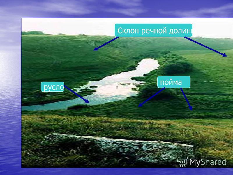 пойма русло Склон речной долины