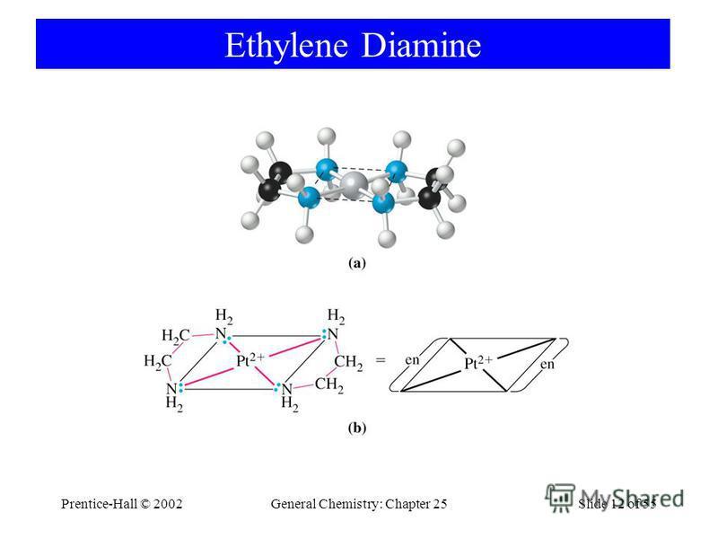 Prentice-Hall © 2002General Chemistry: Chapter 25Slide 12 of 55 Ethylene Diamine