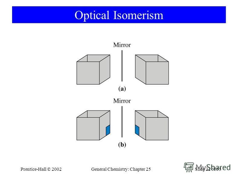 Prentice-Hall © 2002General Chemistry: Chapter 25Slide 22 of 55 Optical Isomerism