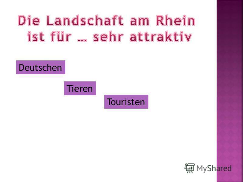 Deutschen Tieren Touristen