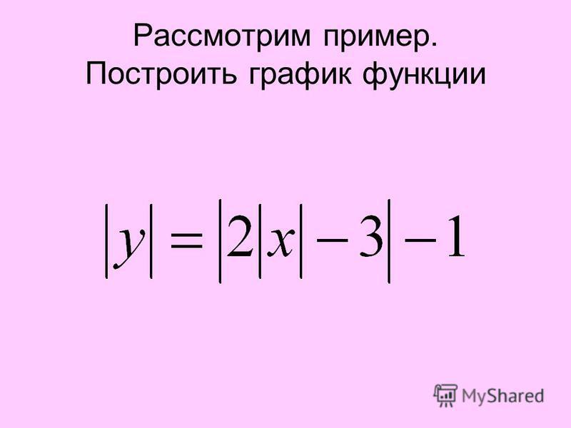 Рассмотрим пример. Построить график функции