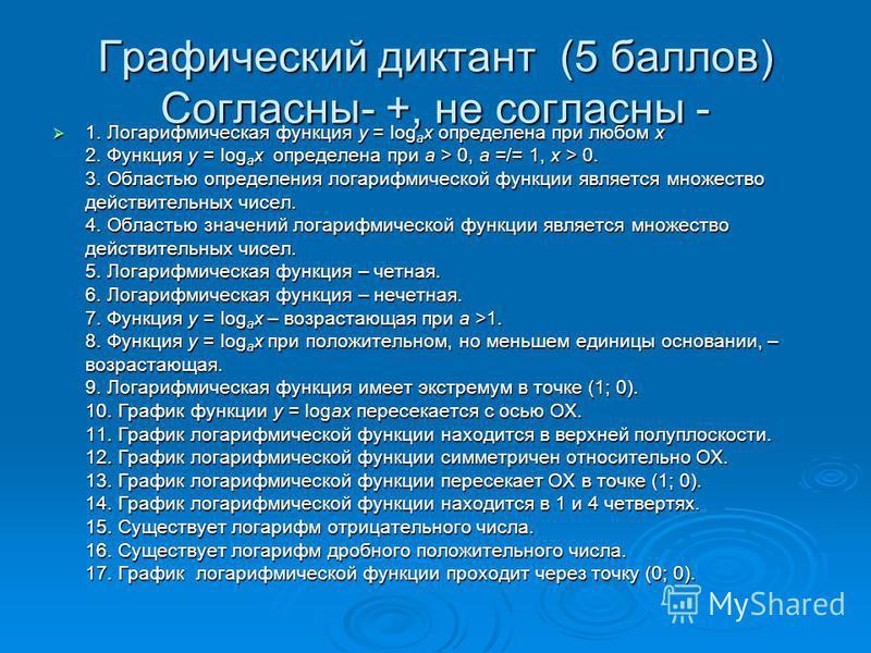Вычислите: Вычислите: 1. l oq416 2. l oq82 3. l oq25125 4. l oq 49 5. l oq6 6. l oq381