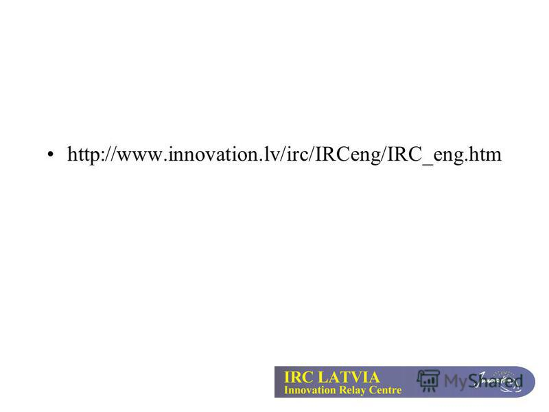 http://www.innovation.lv/irc/IRCeng/IRC_eng.htm