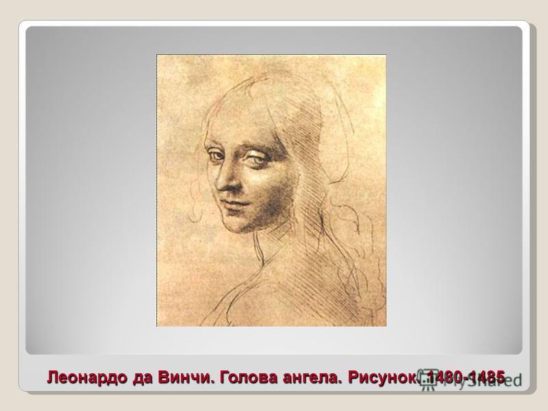 Леонардо да Винчи. Голова ангела. Рисунок. 1480-1485