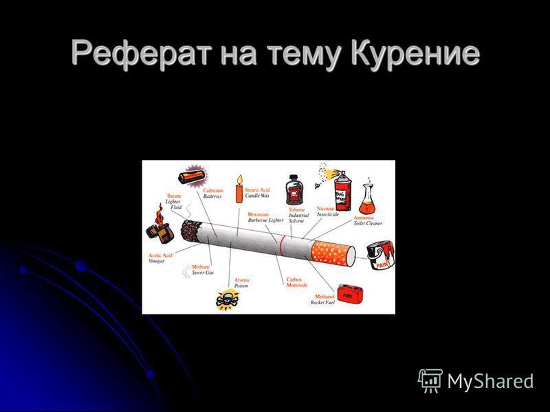 Презентация на тему Реферат на тему Курение Курить вредно А  1 Реферат на тему Курение