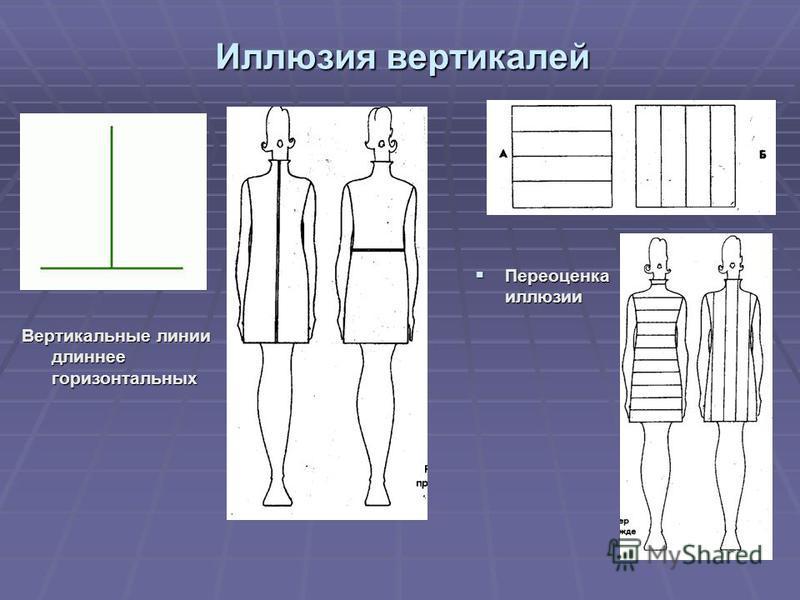 Иллюзия вертикалей Вертикальные линии длиннее горизонтальных Переоценка иллюзии Переоценка иллюзии