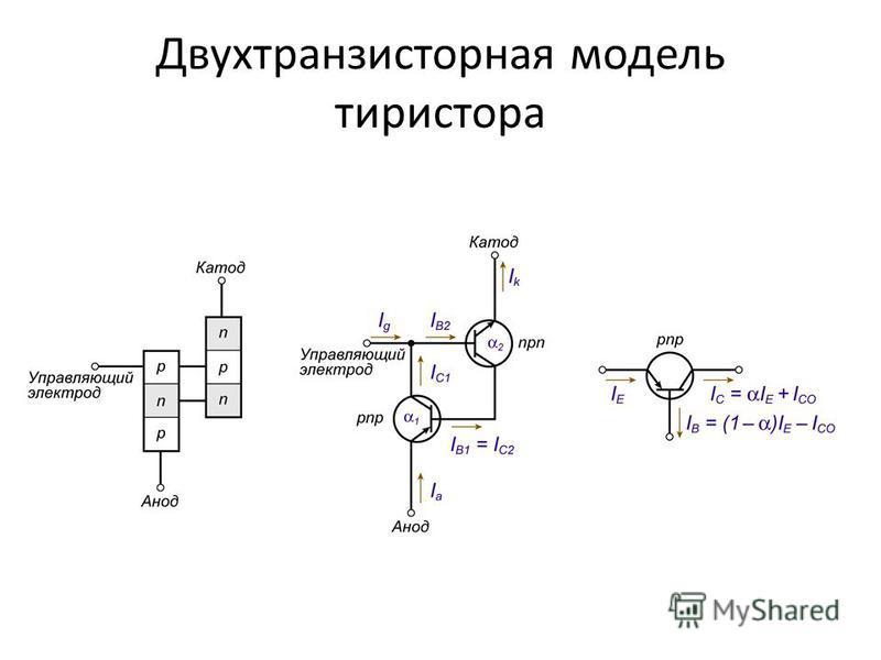Двухтранзисторная модель тиристора