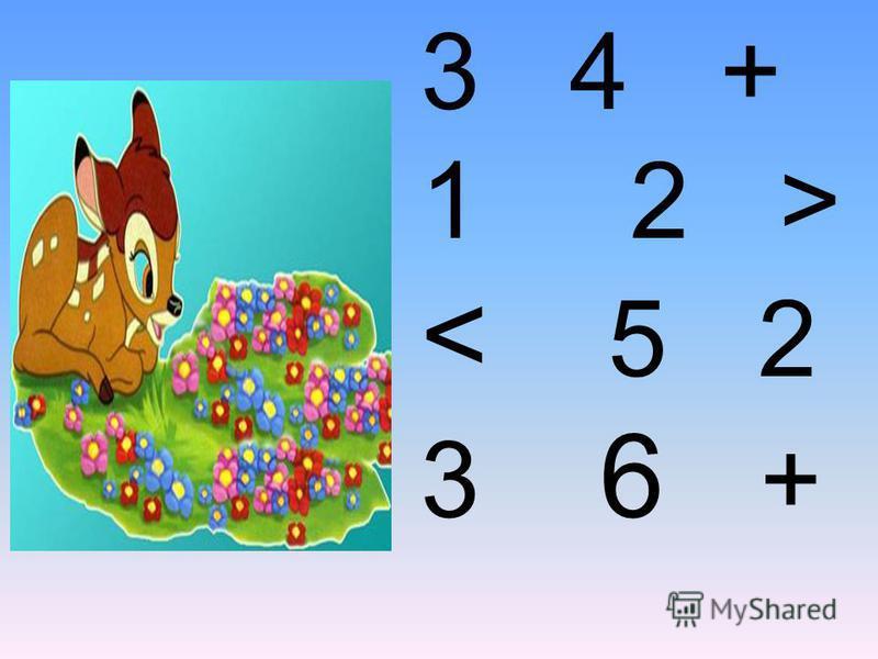 Урок математики. 1 2 3 7 5 4 6