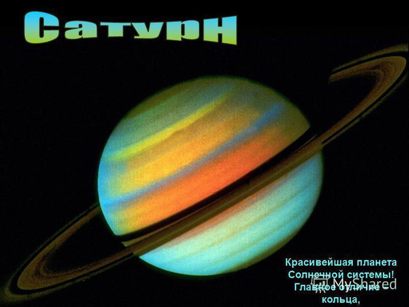 Красивейшая планета Солнечной системы! Главное отличие – кольца,