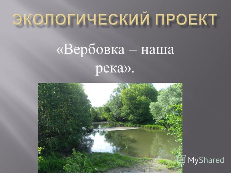 « Вербовка – наша река ».