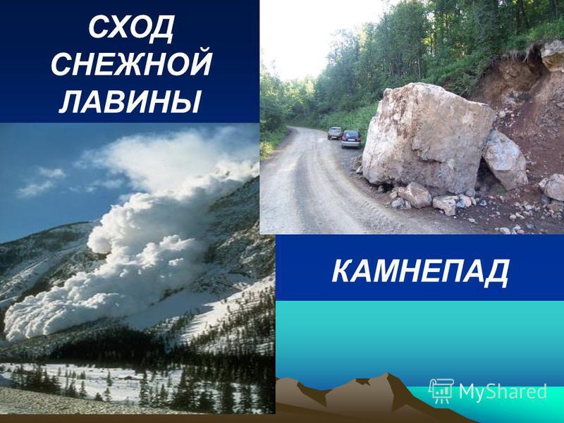 СХОД СНЕЖНОЙ ЛАВИНЫ КАМНЕПАД