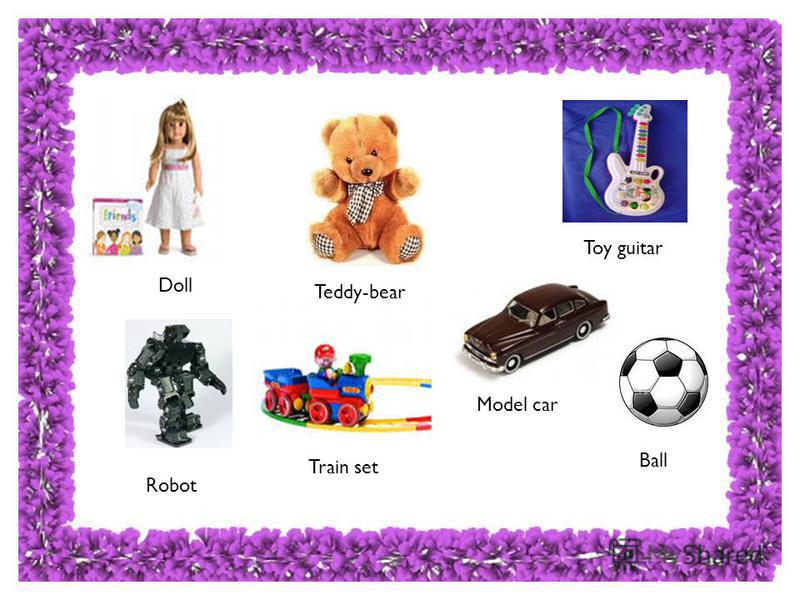Teddy-bear Train set Robot Doll Toy guitar Model car Ball