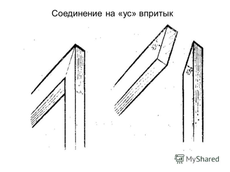 Соединение на «ус» впритык