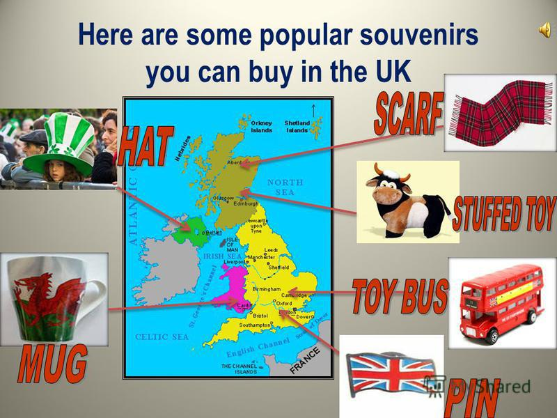 Here are some popular souvenirs you can buy in the UK
