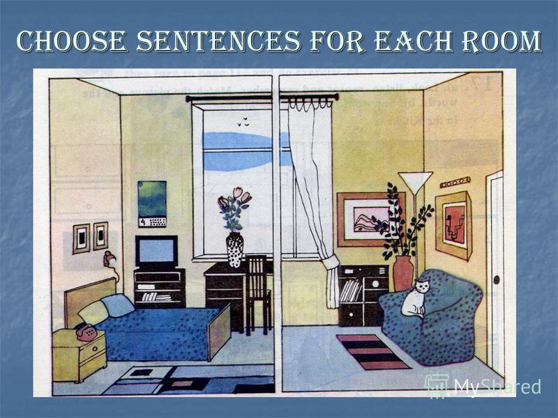 Choose sentences for each room