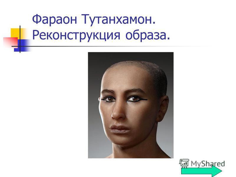 Фараон Тутанхамон. Реконструкция образа.