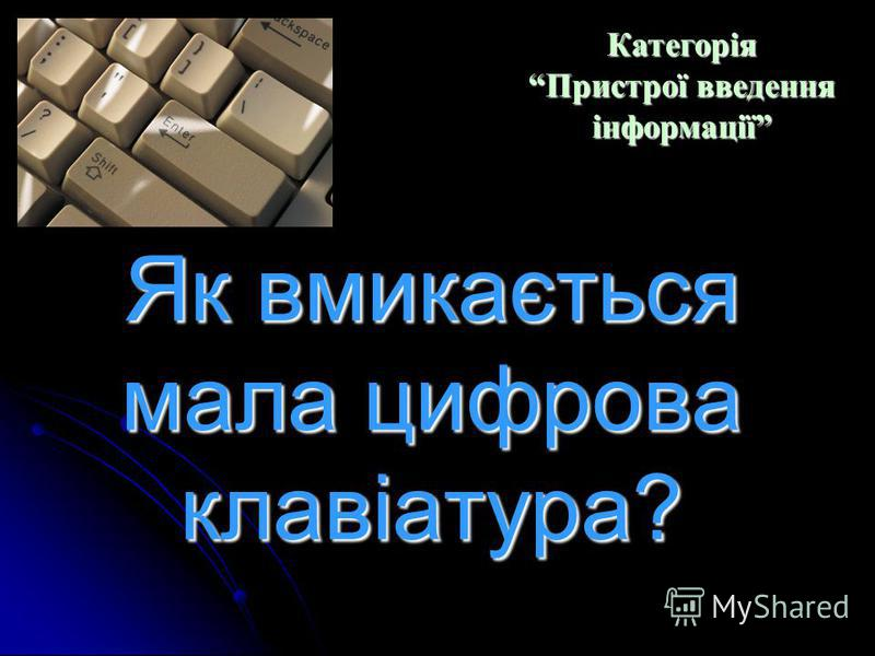 Призначення клавіші Caps Lock. Категорія Пристрої введення інформації Категорія Пристрої введення інформації