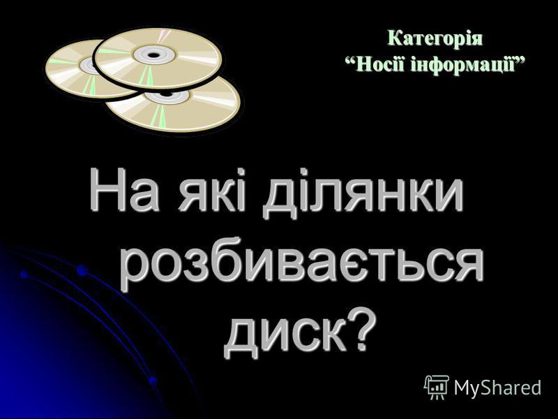 Який привід призначений для читання лазерних дисків? Категорія Носії інформації Категорія Носії інформації