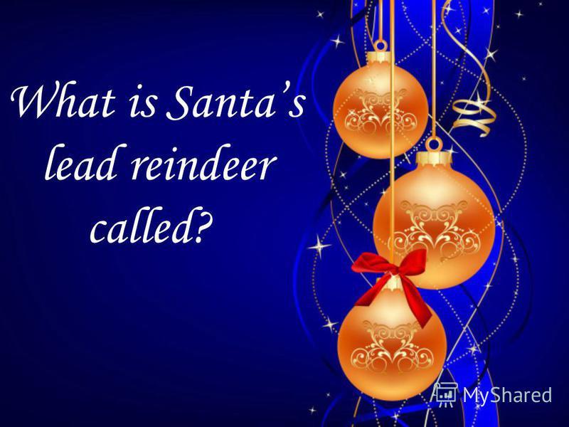 What is Santas lead reindeer called?