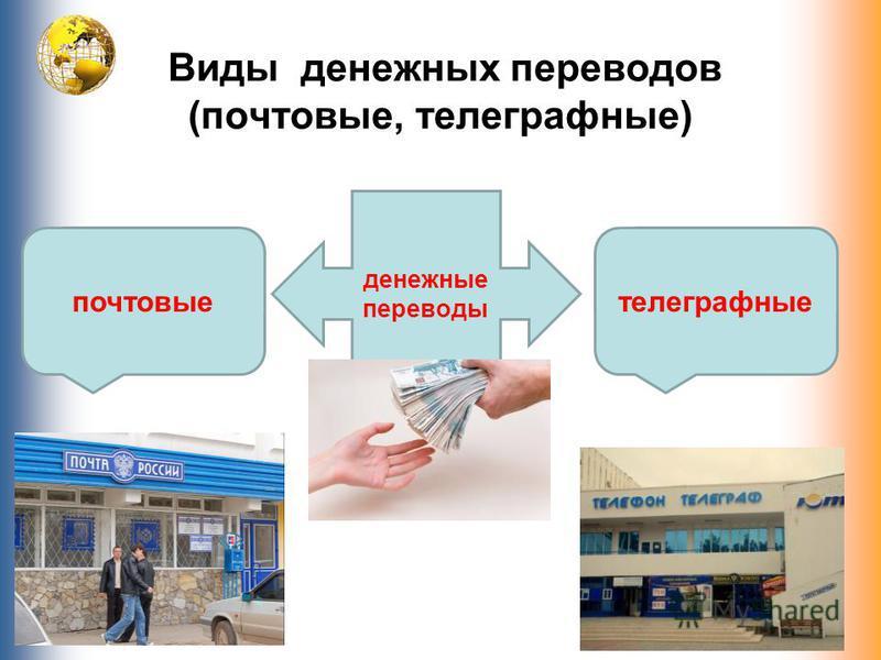 Виды денежных переводов (почтовые, телеграфные) денежные переводы почтовые телеграфные