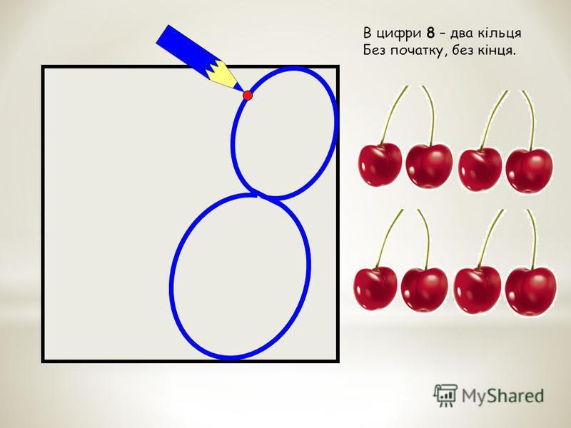В цифри 8 – два кільця Без початку, без кінця.