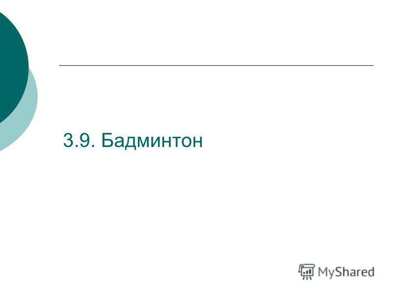 3.9. Бадминтон