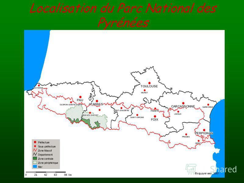 Localisation du Parc National des Pyrénées