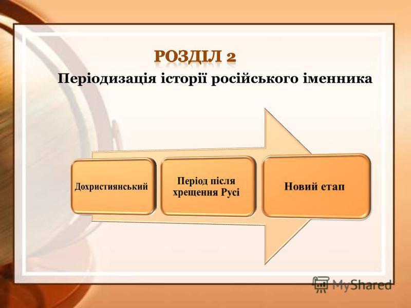 Періодизація історії російського іменника