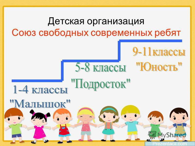 Детская организация Союз свободных современных ребят Prezentacii.com
