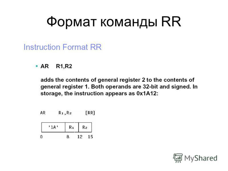 Формат команды RR