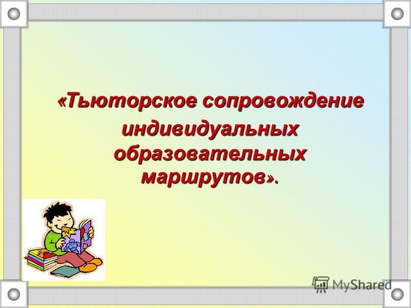 « Тьюторское сопровождение индивидуальных образовательных маршрутов ».