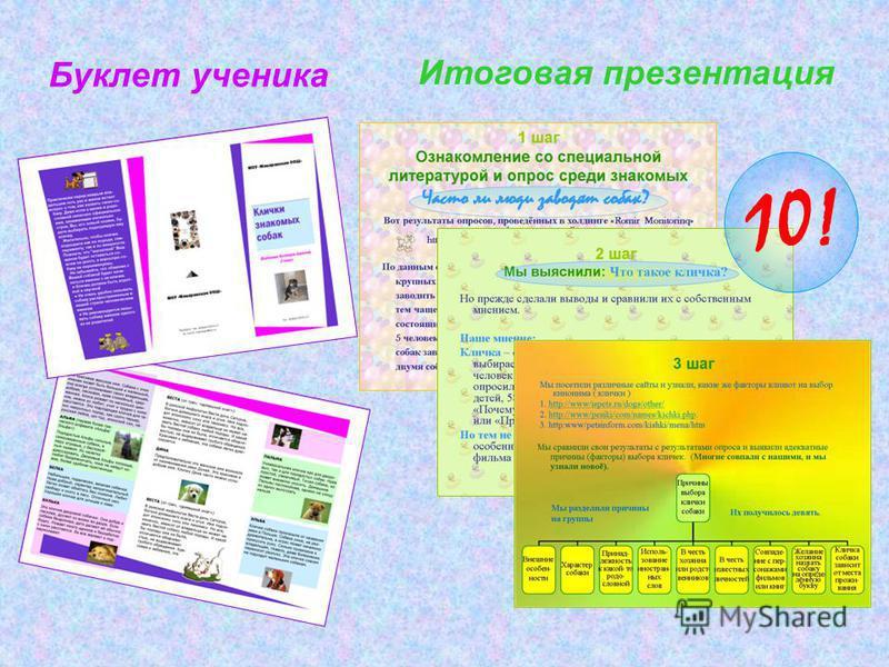 Буклет ученика Итоговая презентация 10!