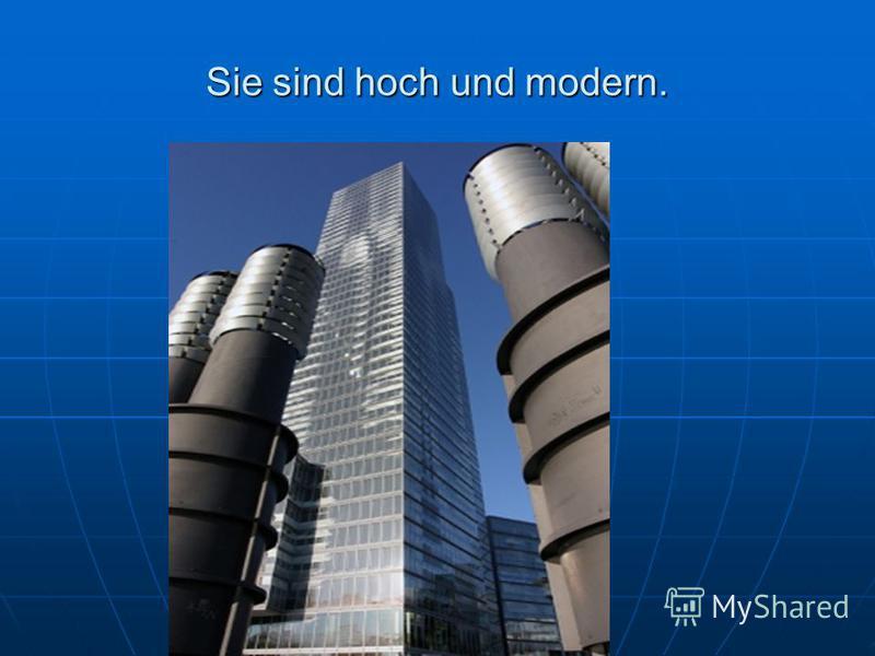 Sie sind hoch und modern.