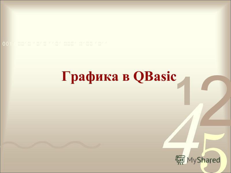 Графика в QBasic 1