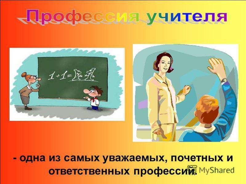 Учитель ведёт нас сквозь годы детства, юности. Каждый день совершает подвиг – отдаёт свои знания, вкладывает в нас частицу своего сердца.