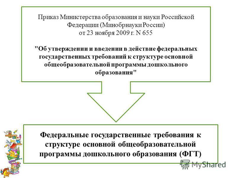 Приказ Министерства образования и науки Российской Федерации (Минобрнауки России) от 23 ноября 2009 г. N 655