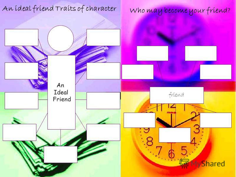 An Ideal Friend An ideal friend Traits of character friend Who may become your friend?