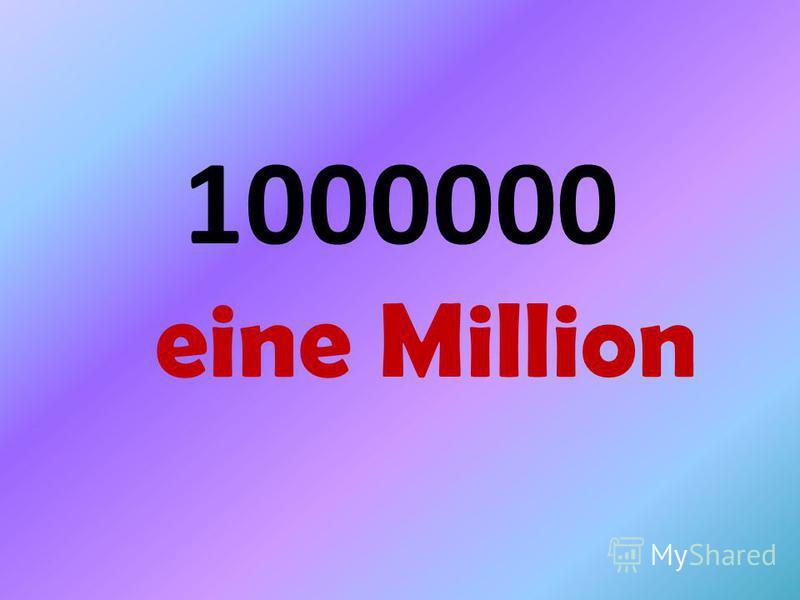 1000000 eine Million
