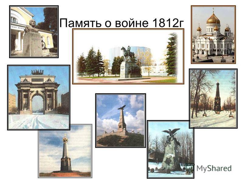 Память о войне 1812 г