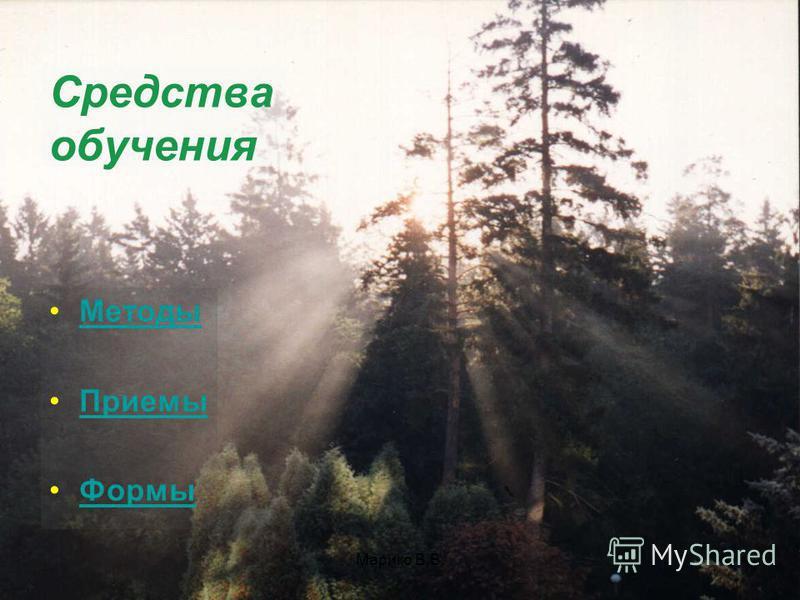 Марико В.В. Средства обучения Методы Приемы Формы