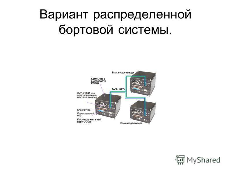 Вариант распределенной бортовой системы.