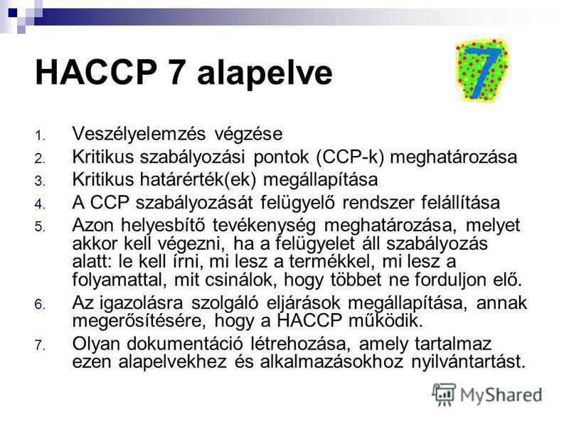 Haccp 7 alapelve