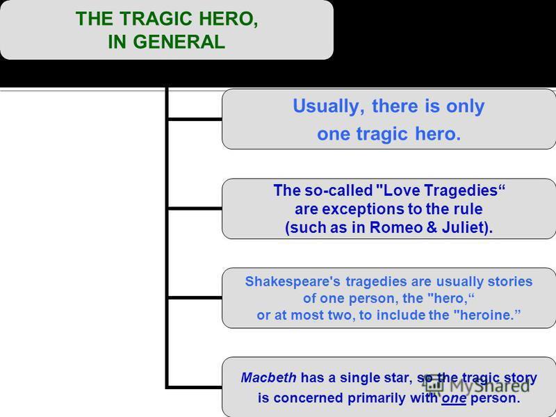 THE TRAGIC HERO, IN GENERAL Usually, there is only one tragic hero. The so-called