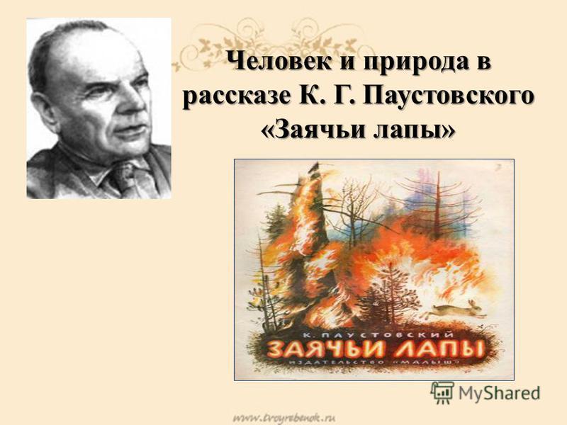 Человек и природа в рассказе К. Г. Паустовского «Заячьи лапы»