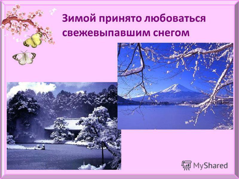 Зимой принято любоваться свежевыпавшим снегом