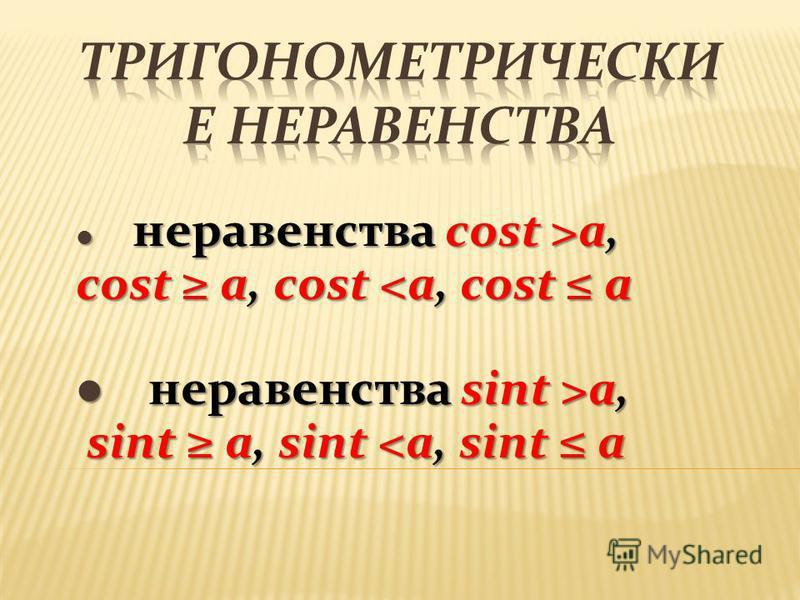 неравенства cost >a, неравенства cost >a, cost a, cost <a, cost a неравенства sint >a, неравенства sint >a, sint a, sint <a, sint a sint a, sint <a, sint a