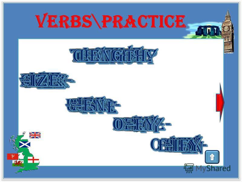verbs \theory en- придавать качество/ охват/ включение внутрь, приведение в состояние, обозначенное основой to encage em-embody over- избыточность качества или выполнения действия overpay under- недостаточность качества или выполнения действия underl