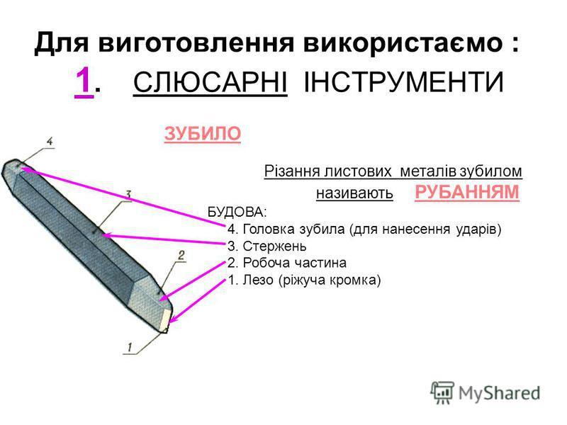 Розділ: Обробка листового металу Тема: Робота слюсарними інструментами Мета: Виготовлення регулювальної пластини 50 10 S 1,5