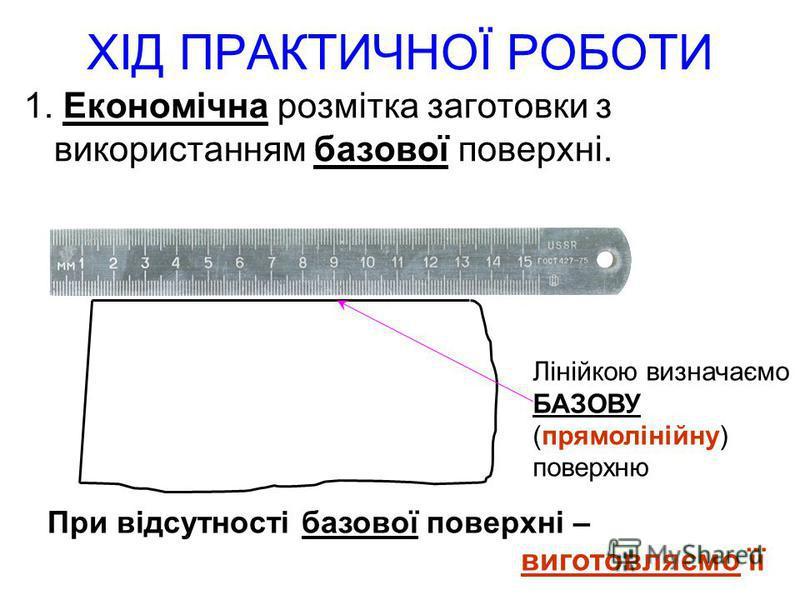 Для виготовлення використаємо : 1. СЛЮСАРНІ ІНСТРУМЕНТИ ЗУБИЛО Різання листових металів зубилом називають РУБАННЯМ БУДОВА: 4. Головка зубила (для нанесення ударів) 3. Стержень 2. Робоча частина 1. Лезо (ріжуча кромка)